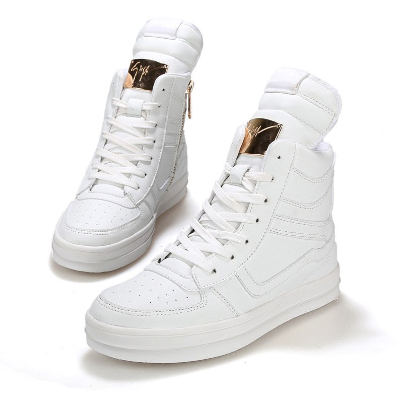 High-top shoes white shoes male Lazada