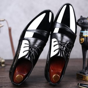 Mazefeng 2019 Men Dress Shoes Men Formal Shoes Leather Luxury Fashion Groom Wedding Shoes Men Oxford Shoes Dress Plus Size 38-48