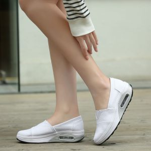 Spring Autumn 2020 New Women Shoes Canvas Flat Platform Shoes Woman Wedges Shallow Non-slip Fashion Casual Loafers Air Cushion