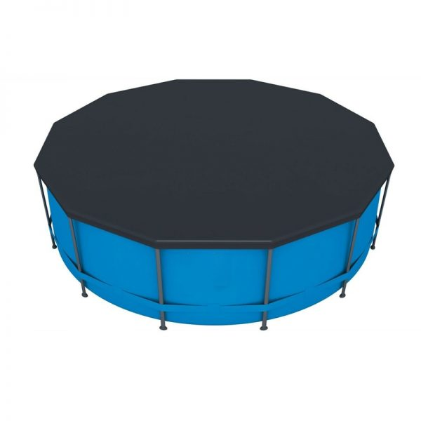 10ft 305cm Swimming Pool Cover Round PVC Bracket Pool Cover Inflatable Swimming Pool Dust UV resistant Cover Round Durable