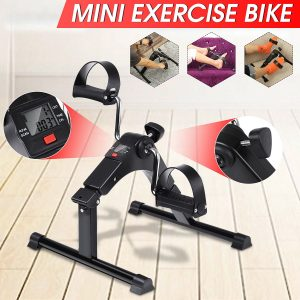 Home Fitness Bike LCD Display Indoor Cycling Stepper Foldable Mini Adjustable Rehabilitation Limbs Exercise Gym Machine