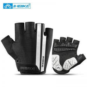 INBIKE Half Finger Cycling Gloves Sport Fitness Racing MTB Bike Gloves Summer Men Women Riding Thickened Palm Pad Bicycle Gloves