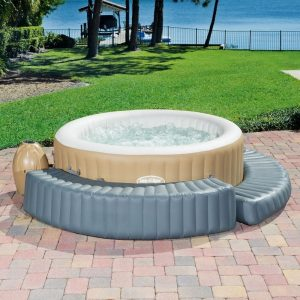 """58432 Bestway 200x40x40cm Inflatable Spa Surround 78""""x16""""x16"""" Solid Step For Round SPA To Sit Or Lie On Made Of Tritech Material"""