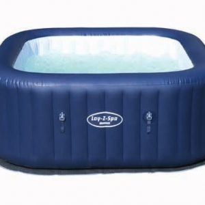 """54154 BestWay 180x180x71cm Square Inflatable Hawai SPA Heating Swimming Pool for Family 71x71x28"""" Lay-Z-Spa Inflatable SPA"""
