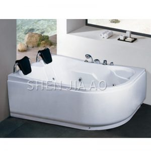 1073 Double Acrylic Bathtub Jacuzzi Surf Hot & Cold Water Switch Surf Function With Shower Jacuzzi 1PC