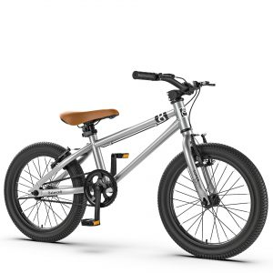 Children's Bicycle 16/20-Inch 4-6-8 Years Old Height Adjustable Carbon Steel Frame Bikes for Kids Teens Adults Gifts