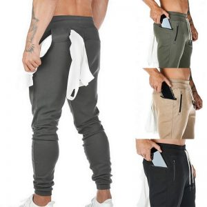 Mens Joggers Casual Pants Fitness Men Sportswear Tracksuit Bottoms Skinny Gyms Jogger Track Pants Drawstring Waist Trousers