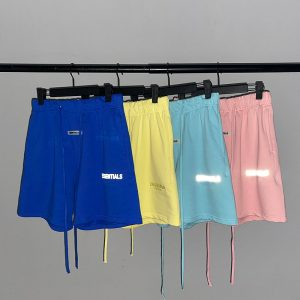 Best Version Fog Summer Style Essentials 3M Reflection Printed Women Men Casual Shorts Beach Shorts Hiphop Men Shorts Pants