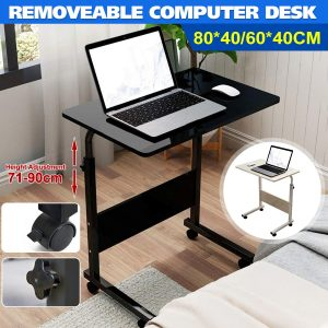 80x40CM 60x40CM Foldable Computer Table Adjustable Portable Laptop Desk Rotate Laptop Bed Table Can be Lifted Standing Desk