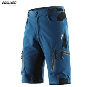 ARSUXEO Men's Outdoor Sports Cycling Shorts MTB Bike Downhill Shorts Mountain Bicycle Short Pants Breathable Quick Dry 1202