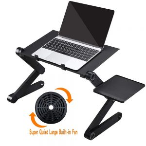 Laptop Table Stand Adjustable Folding Design Stand Computer Desk for Ultrabook Netbook Tablet with Mouse Pad Office Furniture