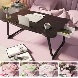 For Russian Portable Folding Laptop Stand Holder Study Table Desk Wooden Foldable Computer Desk for Bed Sofa Tea Serving Table