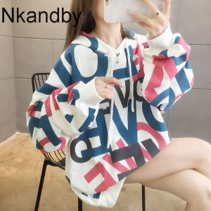 Plus Size Hoodies And Sweatshirts For Women 2020 Autumn Harajuku Hip Hop Loose Korean Oversize Street Style Hooded Pullovers