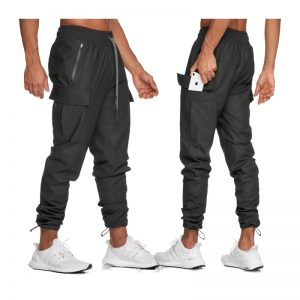 joggers sport pants mens trousers Multi-pocket cargo tactical pants polyester Quick-drying waterproof men tracksuit sweatpants