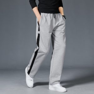 Men Loose Sport Running Stripe Sweatpants Fitness Training Pants Mens Straight Trousers Tracksuit Jogging Sportswear