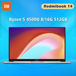 Xiaomi RedmiBook 14 Laptops with Windows 10 AMD Ryzen 4500U 8G / 16G DDR4 512GB SSD Notebook 1920*1080 FHD 14 Inch Computer