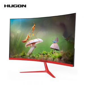 "HUGON Brand New 23.8"" LED/LCD 1920×1080p Curved Screen Monitor PC 75Hz HD Gaming 24/27 Inch Computer VGA For HDMI Interface"