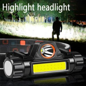 LED Headlamp Portable Mini Dual Light Source Multifunctional Work Light For Outdoor Emergency Camping Fishing