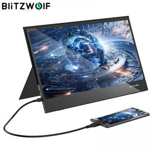BlitzWolf BW-PCM5 15.6 Inch Touchable Portable Computer Monitor Gaming Display Screen for Smartphone Tablet Laptop Game Console