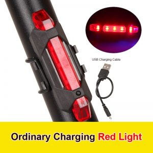 USB Rechargeable 4 Modes LED Bike Bicycle Cycling Front Rear Tail Light Lamp bicycle accessories Rear Tail Safety Warning TSLM1